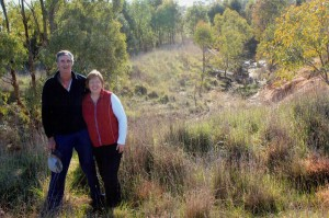 Landholders in a rehabilited section of the upper Bet Bet Creek
